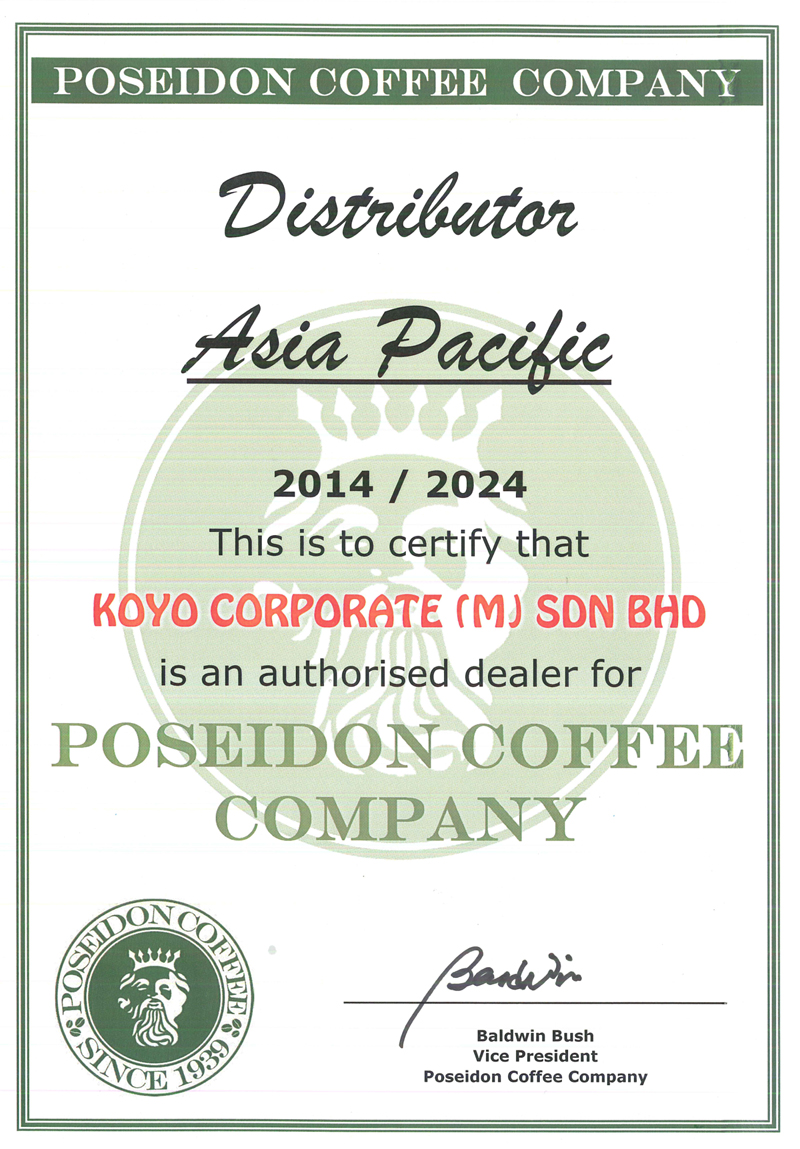Poseidon Coffee Malaysia Distributor - Koyo Coffee Machine