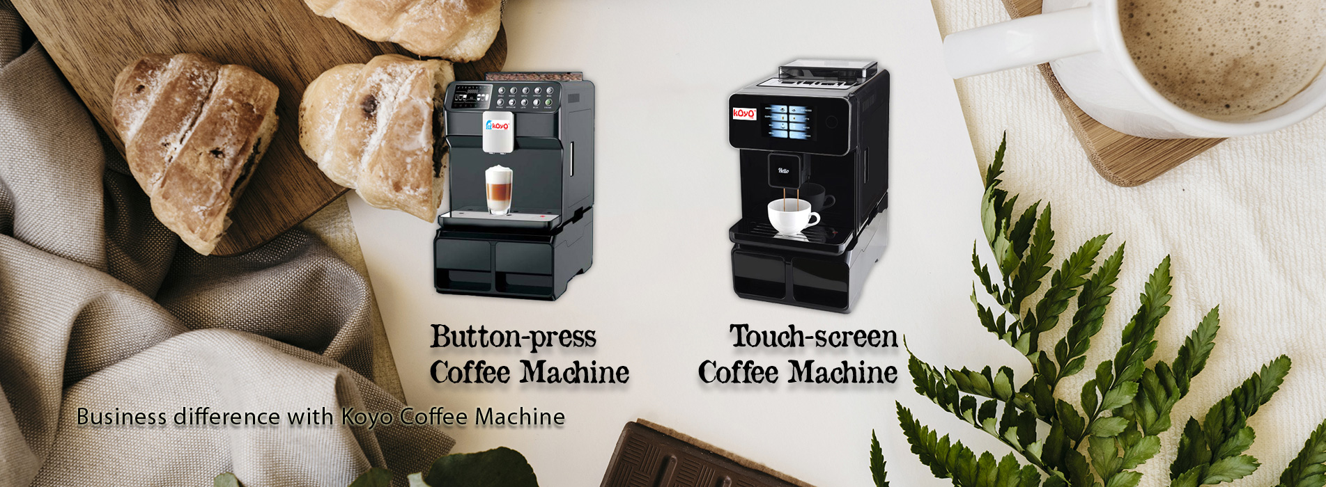 Koyo Coffee Machine Banner