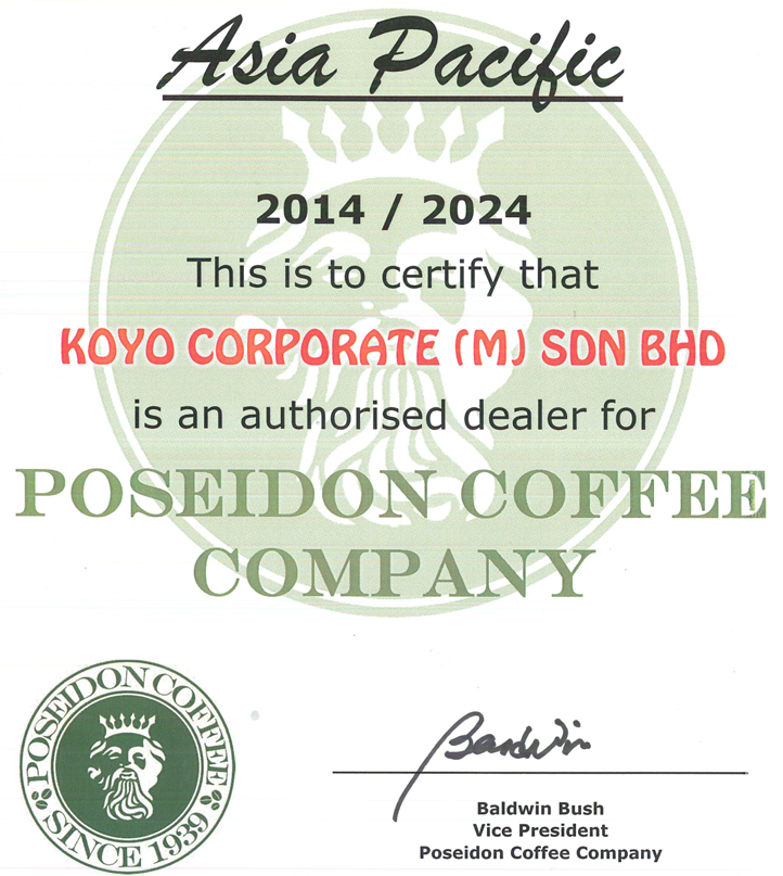 Koyo Poseidon Certified Dearler