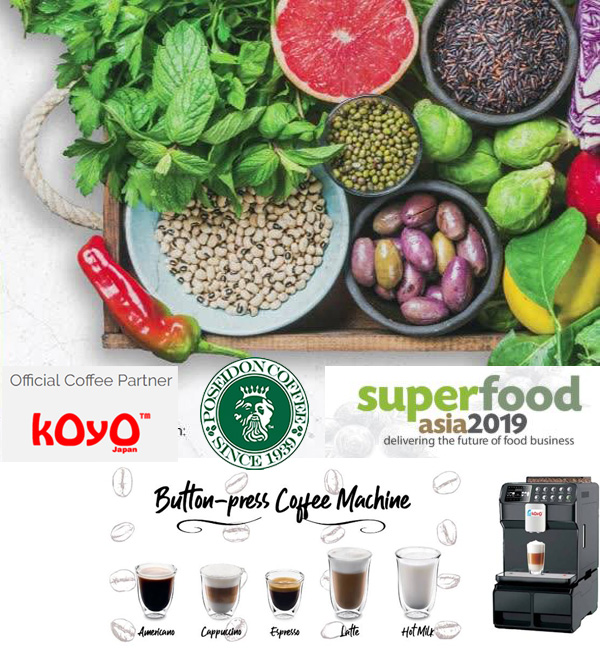 SuperfoodAsia 2019 Official Coffee Partner : Koyo